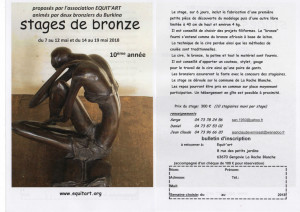 Stages bronze mai 2018